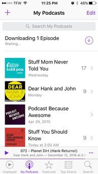 Photo of Apple Podcasts uploaded by Tiffany R.