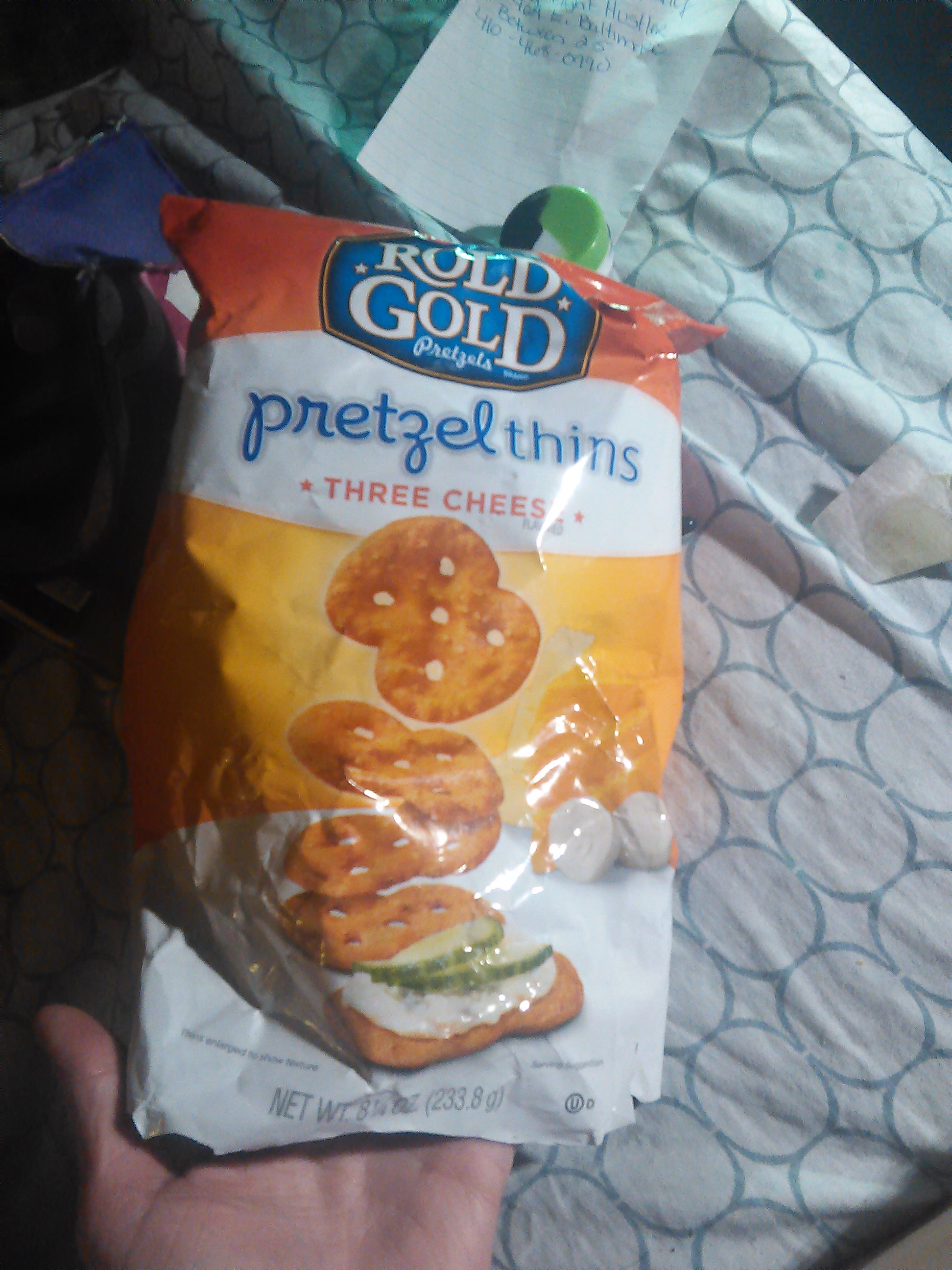 Rold Gold® Pretzel Thins Three Cheese uploaded by Daria Q.