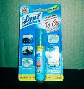 Lysol Disinfectant Spray to Go Crisp Linen Scent uploaded by Avelina C.