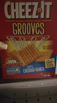 Cheez-It Grooves Zesty Cheddar Ranch Crackers 9 oz uploaded by Lindsay P.