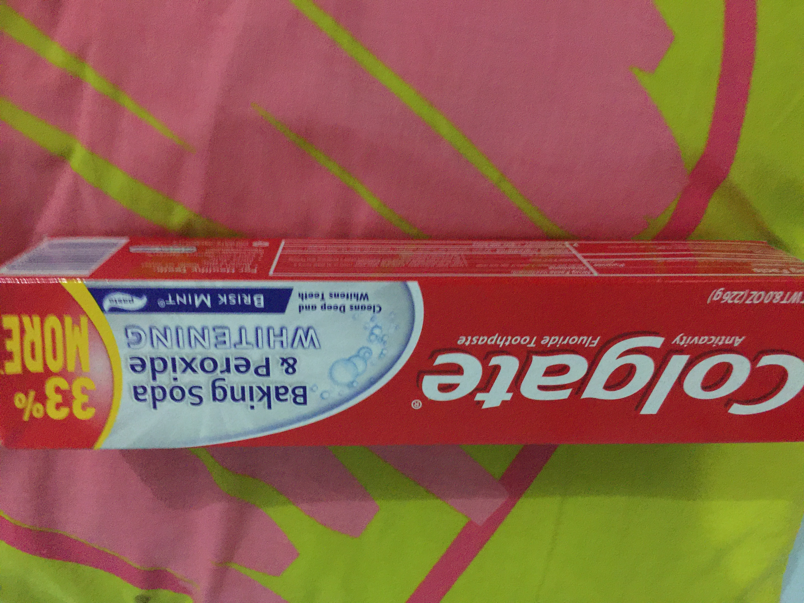 Photo of Colgate® Baking Soda & Peroxide WHITENING Toothpaste Brisk Mint uploaded by Roxanne E.