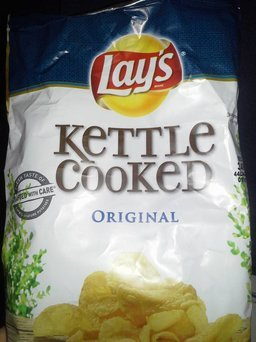 Lay's Kettle Cooked Original Potato Chips uploaded by Rose B.