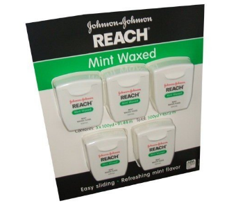 Reach Mint Waxed Dental Floss 100 Yards Per Pack (Pack of 5) uploaded by Ruth J.