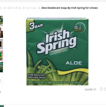 Photo of Irish Spring Aloe Bar Deodorant Soap uploaded by Jennifer P.