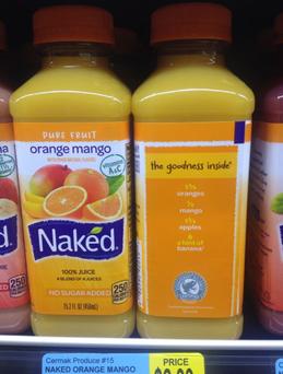 Naked All Natural 100% Juice Orange Mango uploaded by Jaquelin S.
