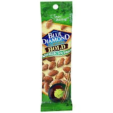 Blue Diamond Bold Wasabi & Soy Sauce 1.5 Oz Almonds 12 Ct Box uploaded by Lori L.