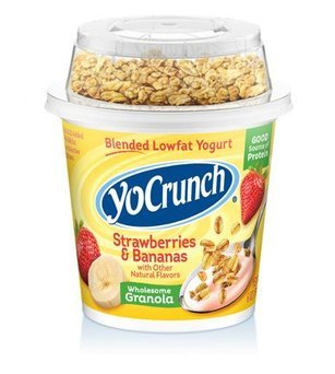 YoCrunch® Strawberries & Bananas Lowfat Yogurt with Granola 6 oz. Cup uploaded by Jenny C. R.