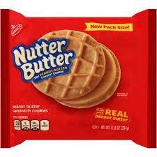 Nabisco Nutter Butter Peanut Butter Sandwich Cookies uploaded by khadeeja l.