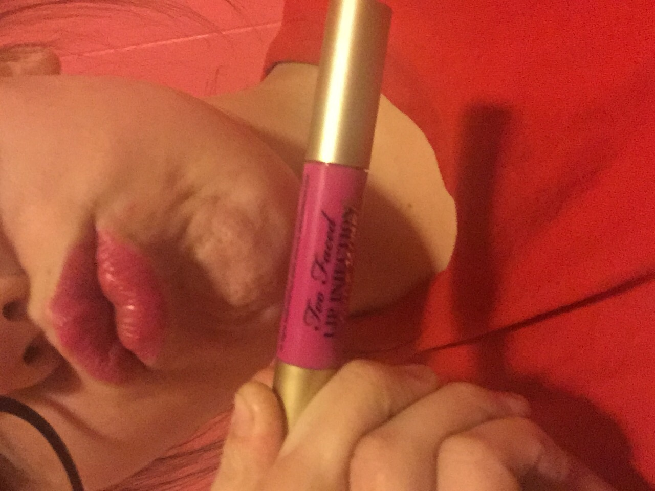 Photo of Too Faced Lip Injection Color Bomb! Moisture Plumping Lip Tint uploaded by Natalea M.