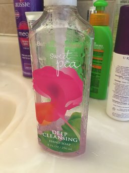 Photo of Bath & Body Works Sweet Pea Deep Cleansing Hand Soap 8 oz (236 ML) uploaded by Kristy M.
