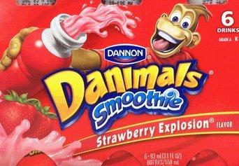Dannon® Danimals® Smoothies Strawberry Explosion/Cotton Candy Smoothie 12-3.1 fl. oz. Bottles uploaded by Brisa K.