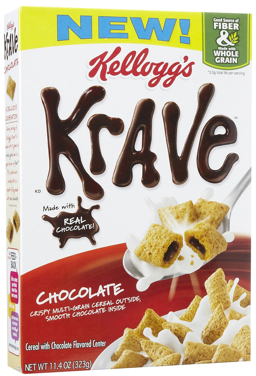 Kellogg's® Krave® Chocolate Cereal 19.9 oz. Box uploaded by Maria F.