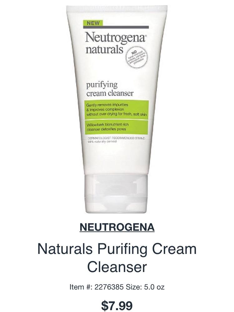 Neutrogena® Naturals Purifying Cream Cleanser uploaded by amaja F.