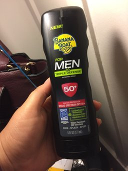 Banana Boat Sunscreen for Men Triple Defense Broad Spectrum Sun Care Sunscreen Lotion - SPF 50 uploaded by Alica V.