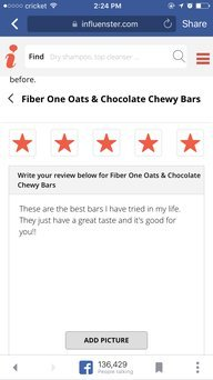Fiber One Oats & Chocolate Chewy Bars uploaded by Jessica D.