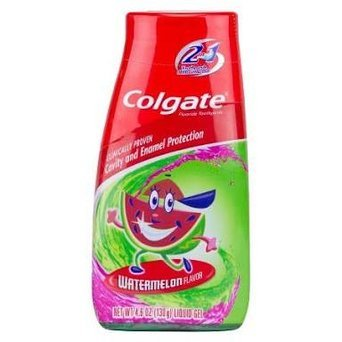 Colgate Kids 2 In 1 Toothpaste & Mouthwash, Watermelon Flavor, 4.6 oz (130 g) (Pack of 4) uploaded by Hannan