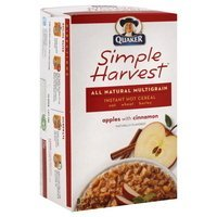 Quaker Apples W/Cinnamon Simple Harvest Instant Multigrain Hot Cereal 11.8 Oz Box uploaded by Cortney B.
