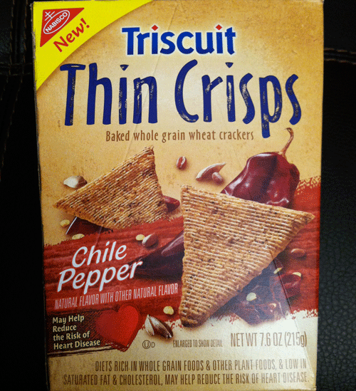 Nabisco Triscuit - Crackers - Thin Crisps Chili Pepper Baked Whole Grain Wheat uploaded by Lynda B.