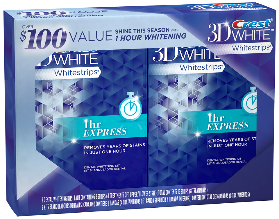 Crest 3d White Whitestrips 1 Hour Express Teeth Whitening Kit