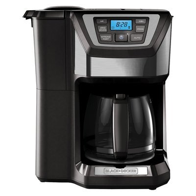 Black & Decker Black and Decker Mill and Brew 12-Cup Programmable Coffee Maker with Grinder ...