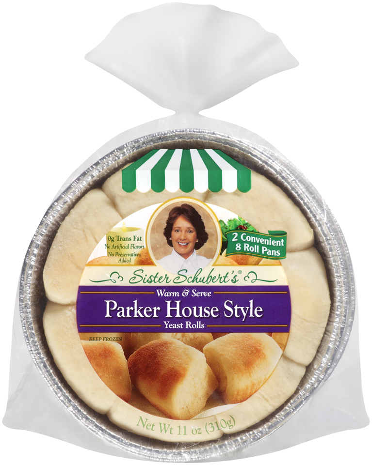 Sister Schubert S Parker House Style Yeast Rolls 2 8 Roll Pans