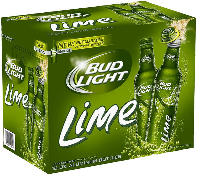 Bud Light Lime Beer Aluminum Bottle