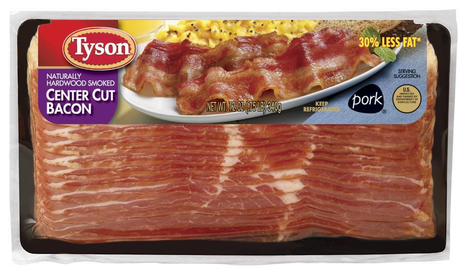 Tyson Center Cut Hardwood Smoked 30 Less Fat Bacon Reviews 2020