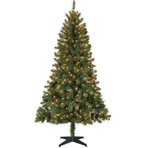 Holiday Time Christmas Tree.Holiday Time Pre Lit 6 5 Madison Pine Artificial Christmas