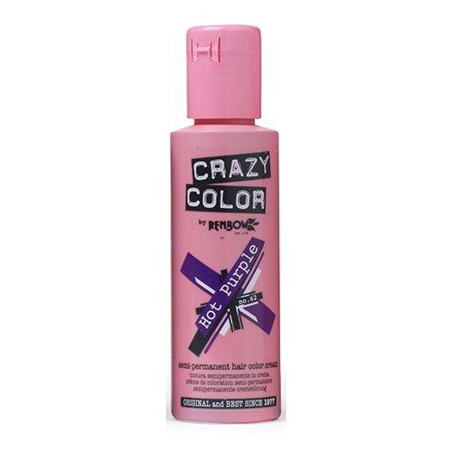 Crazy Color Semi Permanent Hair Color Cream Hot Purple No 62 100ml Reviews 2020