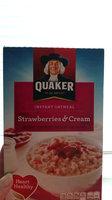 Quaker® Strawberry & Cream Instant Oatmeal uploaded by 💋Stephanie. M.