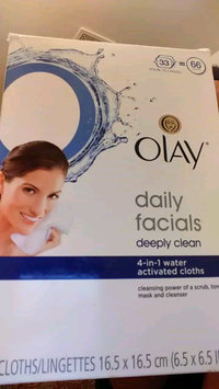 Video of Olay Daily Facials Daily Clean 4-in-1 Water Activated Cleansing Cloths uploaded by Lakeisha M.