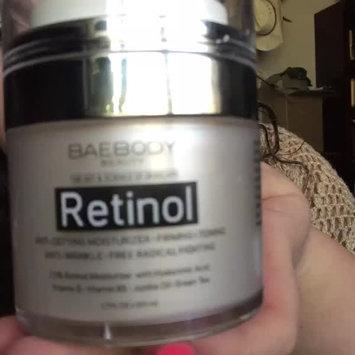 Video of Baebody Retinol Moisturizer Cream: Helps Reduce Appearance of Wrinkles, Fine Lines. Enhanced Organic Ingredients with Retinol, Green Tea, Hyaluronic Acid, and Jojoba Oil 1.7oz. uploaded by Cheyenne R.