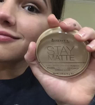 Video of Rimmel London Stay Matte Pressed Powder uploaded by Luna G.