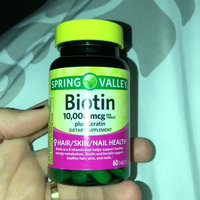 Spring Valley Biotin Tablets uploaded by Marie M.