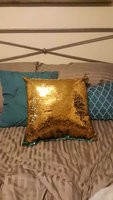Mermaid Sequin Throw Pillow uploaded by Lew W.