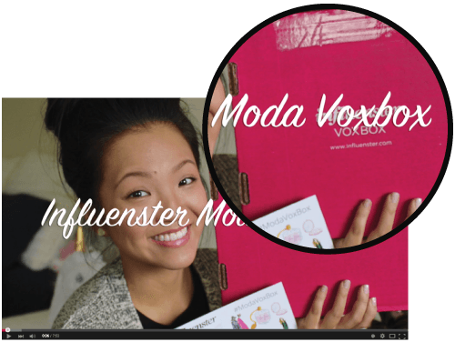 Screenshot of video about Influenster products